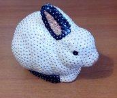 Coniglio bianco e nero (personalizzabile)