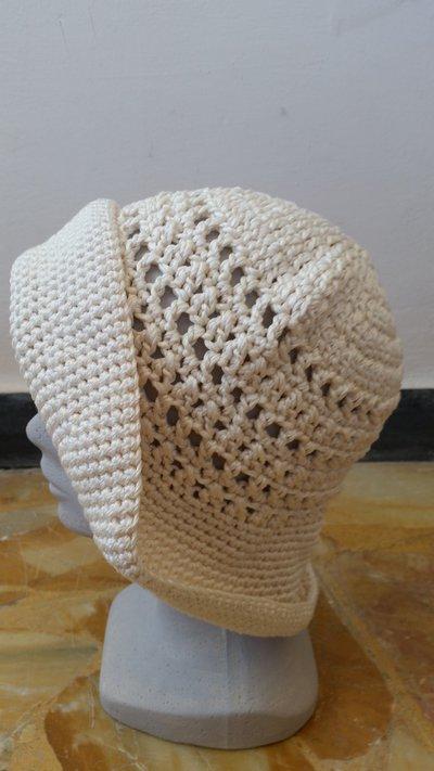 cappello estivo color crema