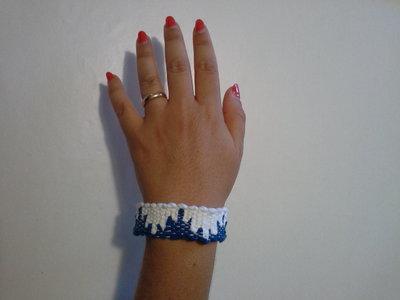 bracciale tessuto al telaio