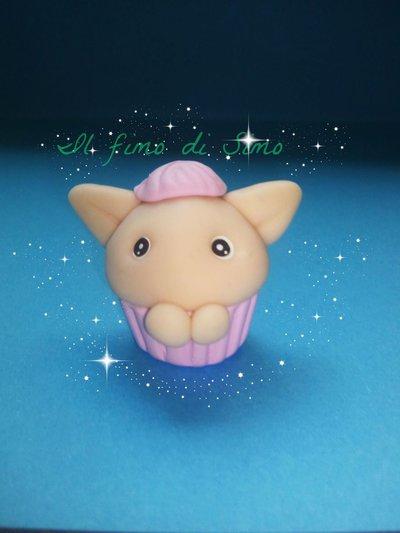 bomboniera folletto cupcake in fimo