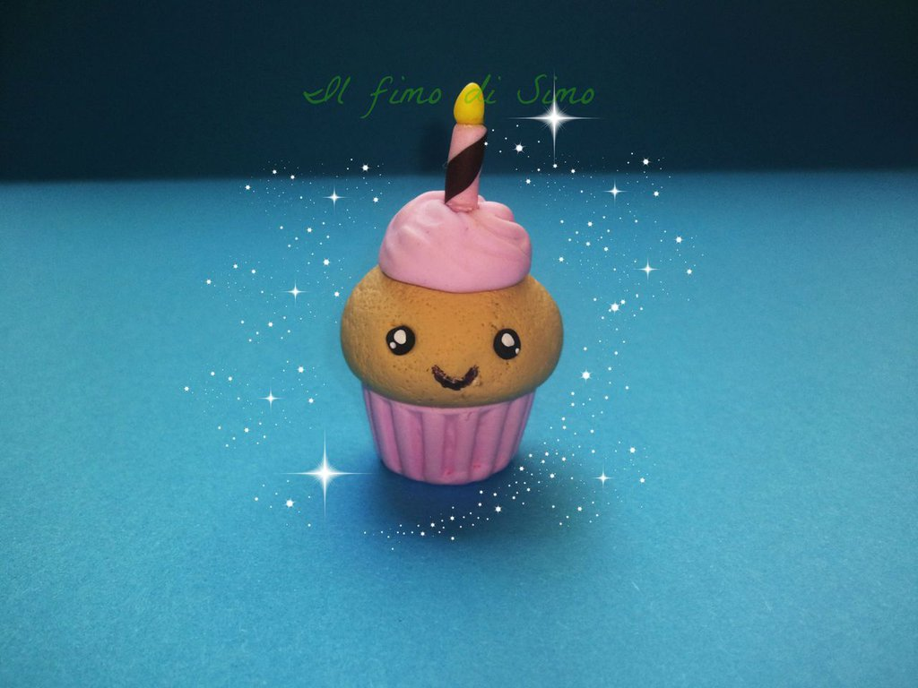 bomboniera primo compleanno cupcake in fimo
