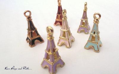 "Charm ciondolo ""Tour Eiffel smaltati"" (22x9,5 mm) (cod.59495)"