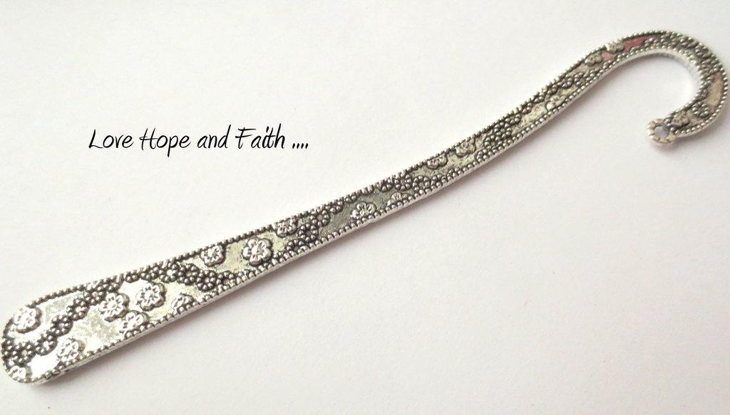 """Segnalibro in metallo con tema """"Floreale"""" (12cm) (cod.30925)"""