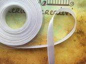 Nastro di raso bianco da 1cm