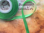 Nastro di raso verde chiaro da 1cm