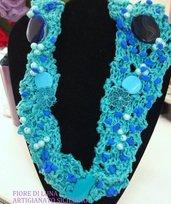 sciarpa collana turchese