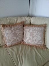 cuscini amorini in filo di cotone