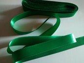 Nastro di raso verde figlia 15mm