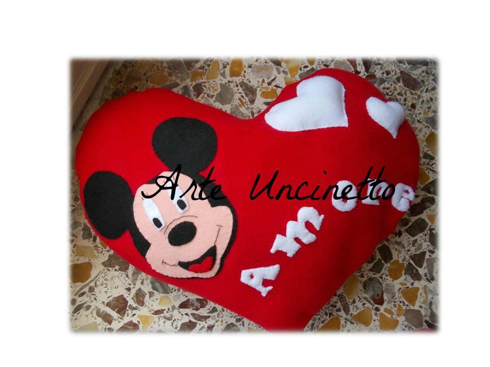 cuscino cuore topolino