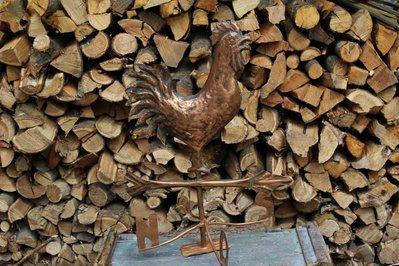 Gallo in rame segnavento con punti cardinali