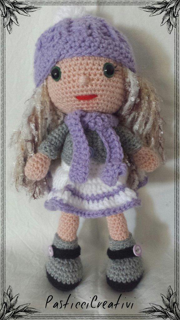bambola amigurumi versione inverno