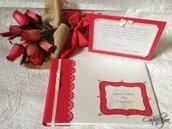 Guestbook e cartoncini segnagusto per confettata