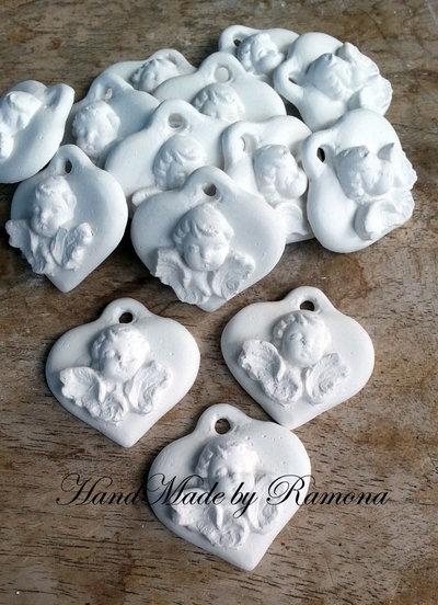 Gessetto profumato  cuore,cuoricino  angelo fiore 24 pezzi  bomboniere, nascita,matrimonio, casa,battesimo