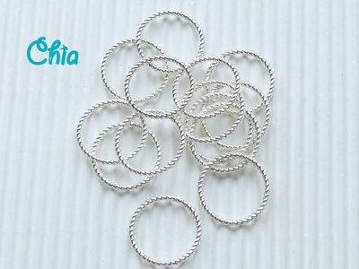 10 connettori anelli 18 mm