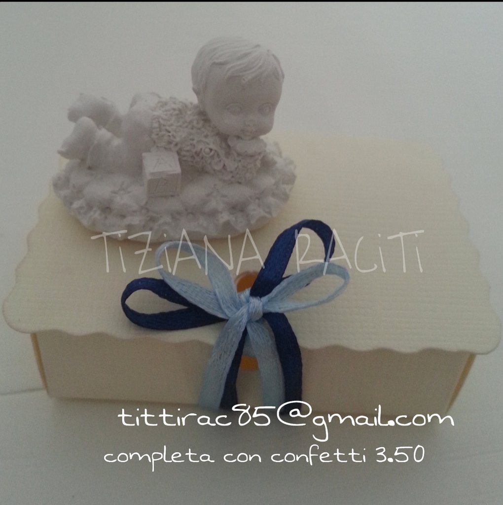 bomboniera battesimo nascita 2017