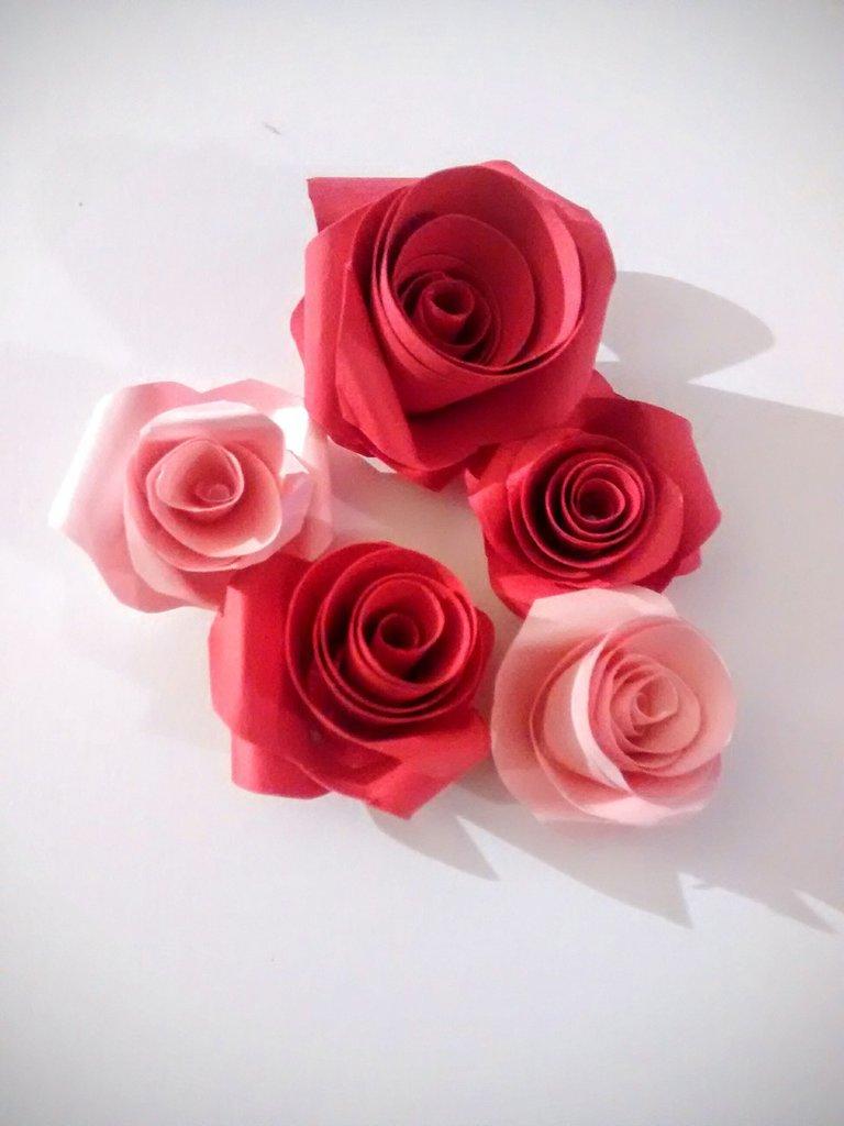 Rose di carta, segnaposto, decorazione, fiori, bouquet