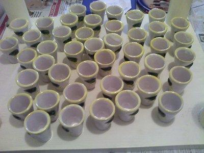 64 Bicchierini limoncello dipinti a mano