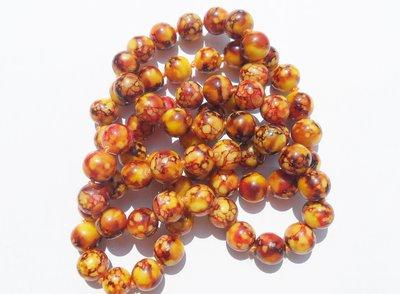 Perlina perla in ceramica MIELE 12mm lotto 10 pz
