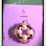 collana con ciondolo in perline intrecciate lotto n. 3