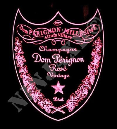 Dom Perignon Rosè Luminous Label Vaso da bottiglia Champagne