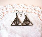 Orecchini doni della morte Harry Potter