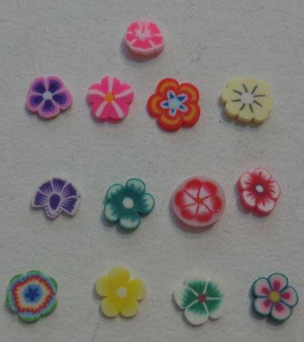 130 Fettine di Polymer clay Canes - FIORI FIORI