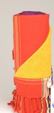 KIKOY - TELO DA MARE DOUBLE FACE una lato pareo un lato asciugamano