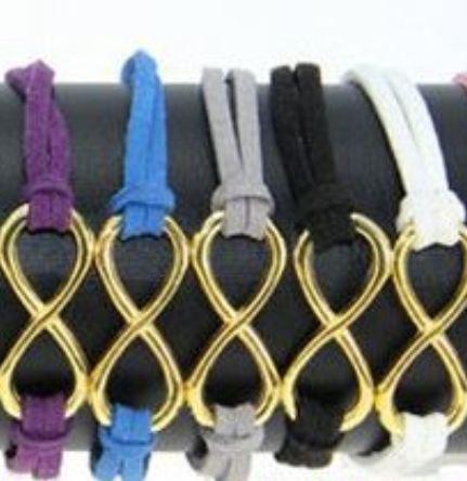 Offerta!!!Bracciali simbolo infinito con cordoncino in alcantara ultimi disponibili idea regalo natale per lei