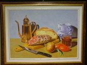 quadro con pane e salame