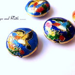 "Perle Cloisonne ""Birds"" (19x19mm) (cod.21397)"