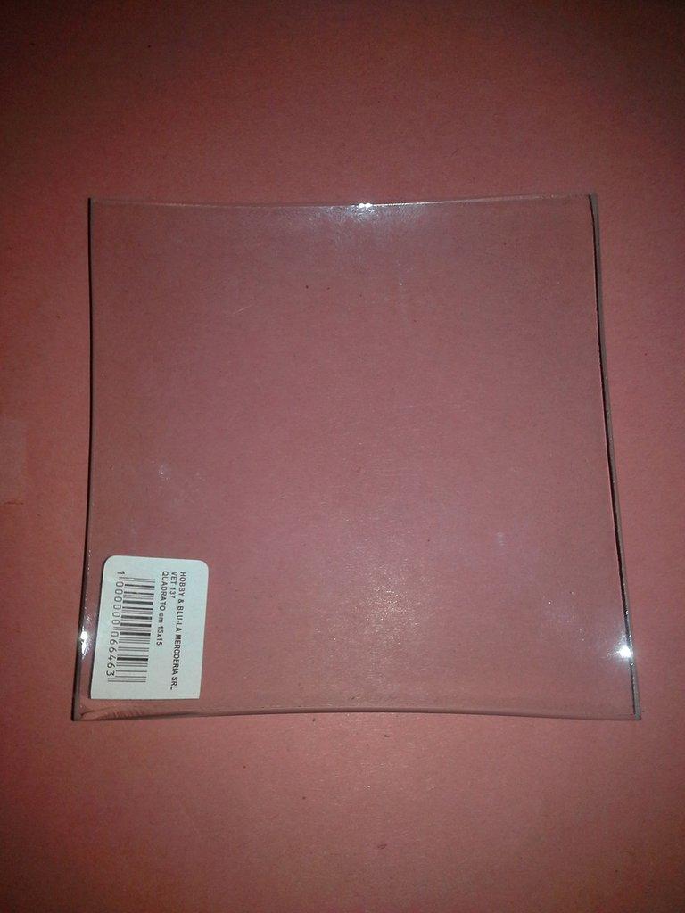 Piatti di vetro 15x15  pz 6