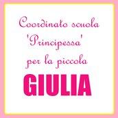 Coordinato scuola 'Principesse' per Giulia