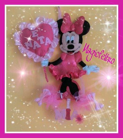 Fiocco Nascita Minnie personalizzato