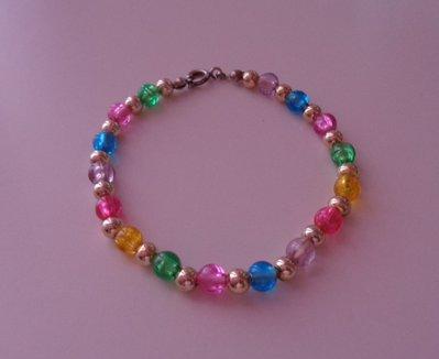 Braccialetto con perline, arcobaleno di colori