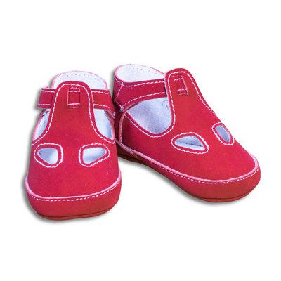 Sandalo due buchi rosso per neonato