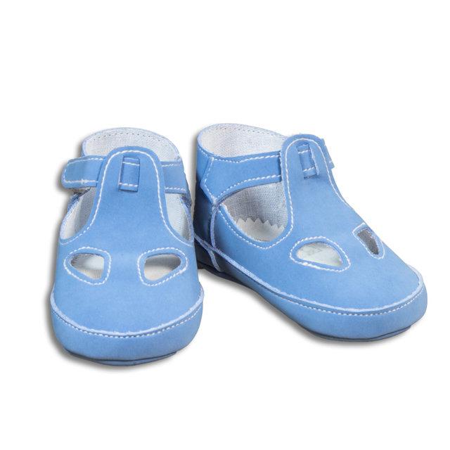 Sandalo due buchi celeste chiaro per neonato