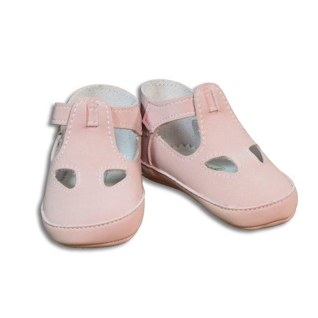 Sandalo due buchi rosa per neonato