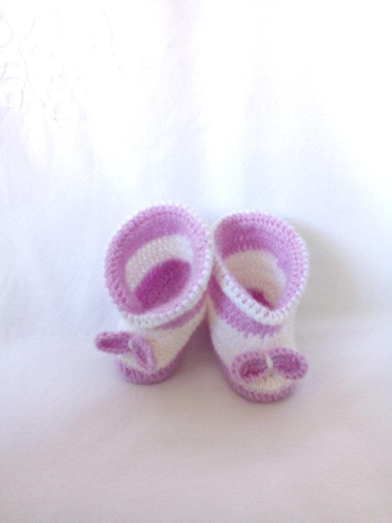 Scarpina baby in lana
