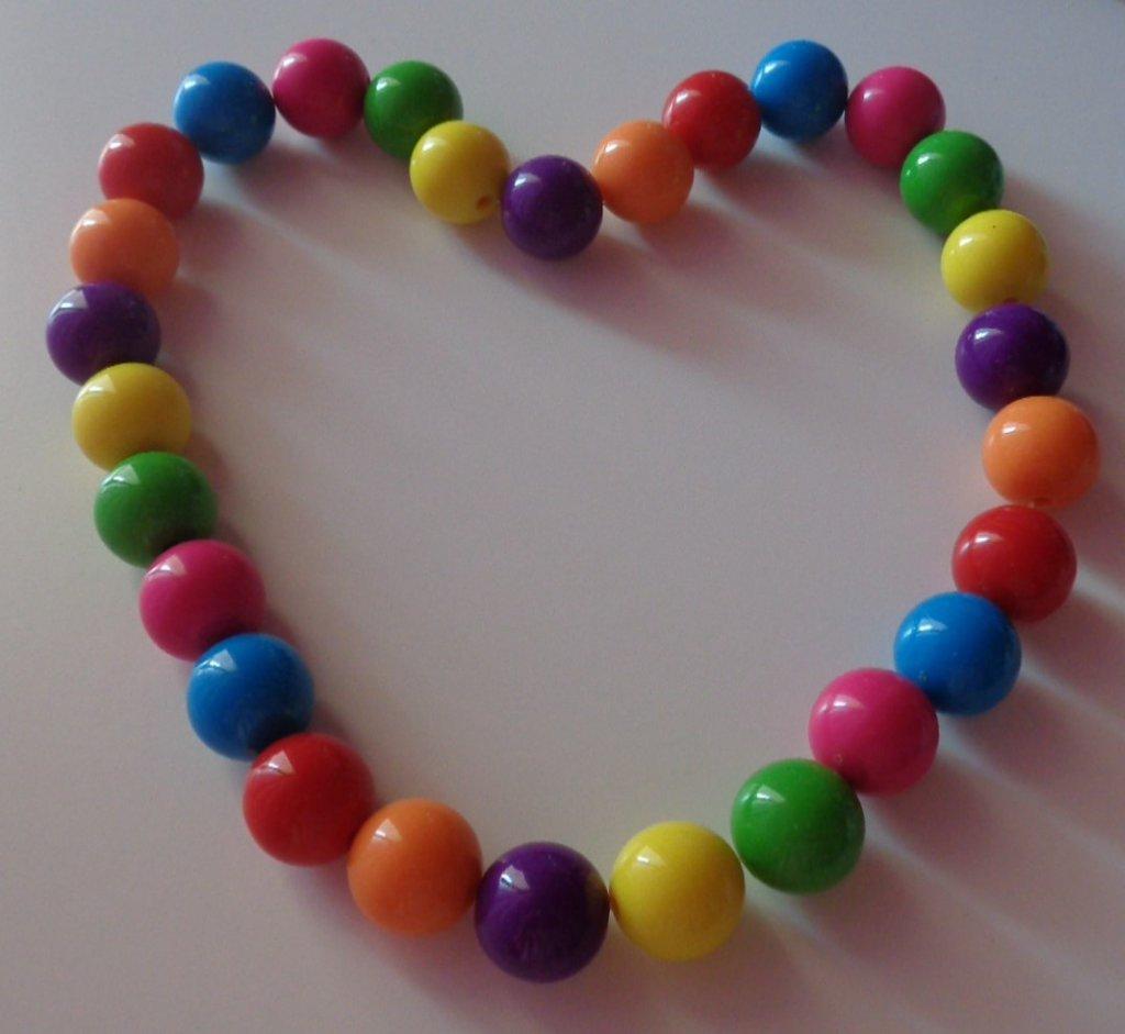 Collana perle arcobaleno