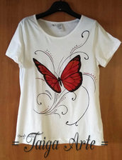 Maglietta Farfalla Rossa