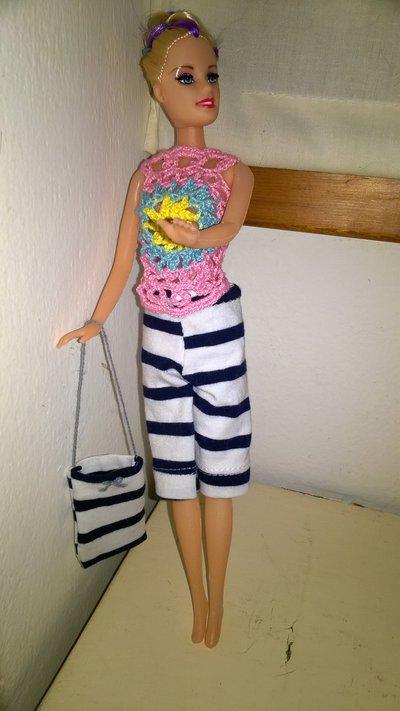 bermuda a righe barbie