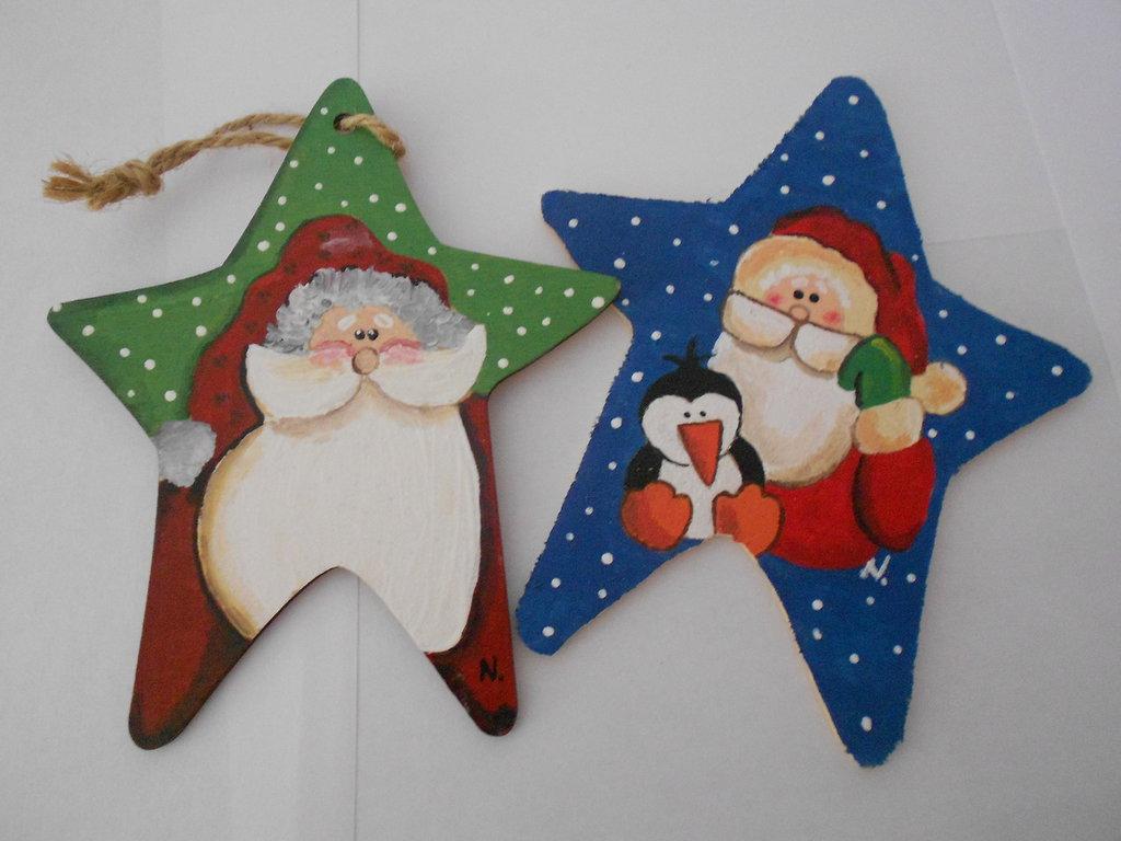 coppia stelle con babbo Natale