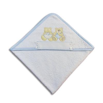 Accappatoio triangolo orsetti azzurri
