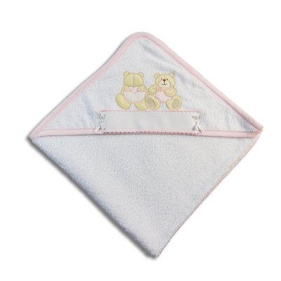 Accappatoio triangolo orsetti rosa