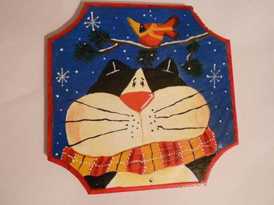 Gatto con sciarpa