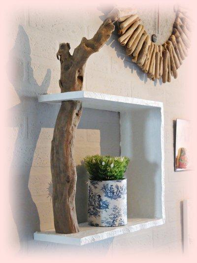 MENSOLA DA MURO con legno di mare - Per la casa e per te - Decorare...  su M...