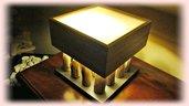 ILU lampada da tavolo con legni di mare