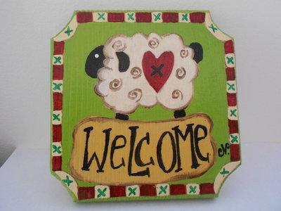 Targhetta di benvenuto