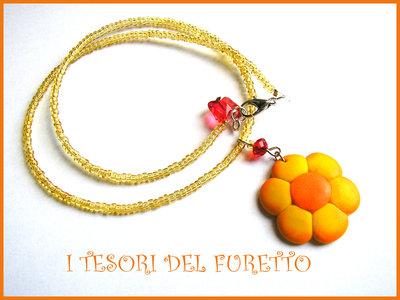 """Collana """"Margherita Conad """" arancio giallo Proposta per Elisa!"""