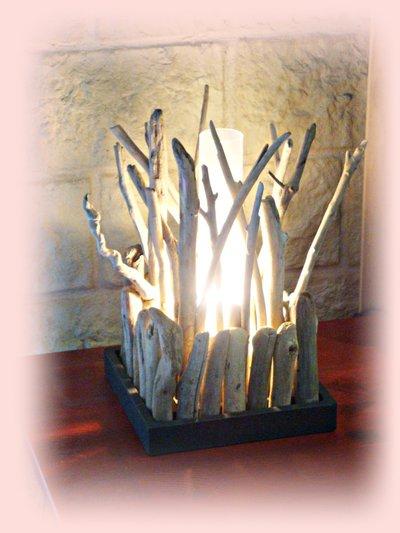 BUISSON lampada da tavolo con legni di mare - Per la casa e per te ...  su MissHobby